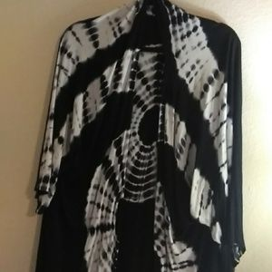 Charlotte Russo Black and White cover up Shrug